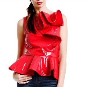 GRACIA iPatent Leather fully lined top